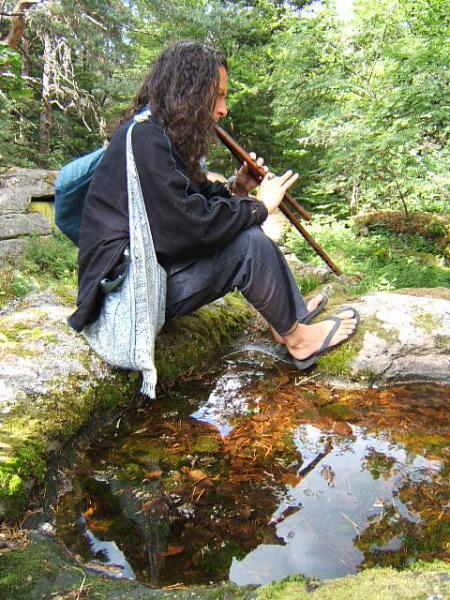Steev Kindwald stage au Taennchel 2005 flûte